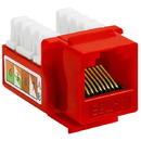 Cmple 204-N Cat5E Punch Down Keystone Jack - Red