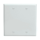 Cmple 232-N Blank 2 Gang Thermoplastic Panel Wall Plate (GFCI), White