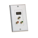 Cmple 430-N HDMI Wall Plate with Component Video RCA