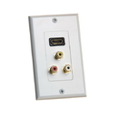 Cmple 432-N HDMI Wall Plate with Composite Video / Audio RCA