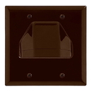 Cmple 515-N Wall Plate - 2-Gang Recessed Low Voltage Cable - Brown
