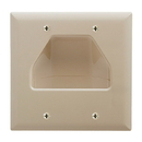 Cmple 516-N Wall Plate - 2-Gang Recessed Low Voltage Cable - Ivory
