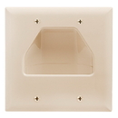 Cmple 517-N Wall Plate - 2-Gang Recessed Low Voltage Cable - Lite Almond