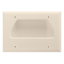 Cmple 520-N Wall Plate - 3-Gang Recessed Low Voltage Cable - Lite Almond