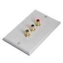 Cmple 565-N RCA Wall Plate - Component Video 3-RCA Gold Plated Connector