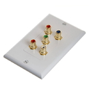 Cmple 566-N RCA Wall Plate - Component Video Audio 5-RCA Gold Connector