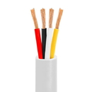 Cmple 614-N 16AWG CL2 Rated 4-Conductor Loud Speaker Cable - w 100ft For In-Wall Installation