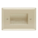 Cmple 621-N Wall Plate - Recessed Easy Mount Low Voltage Cable - Ivory