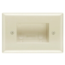 Cmple 624-N Wall Plate - Recessed Easy Mount Low Voltage Cable, Slim Fit - Lite Almond