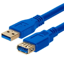 Cmple 675-N USB 3.0 A Male to A Female Extension Gold Plated Cable - 6FT (Blue)