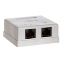 Cmple 780-N Surface Mount Box Cat6 Double WHITE