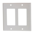 Cmple 797-N White Decora Wall Plate - 2-Gang