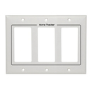 Cmple 798-N White Decora Wall Plate - 3-Gang