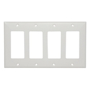 Cmple 799-N White Decora Wall Plate - 4-Gang
