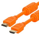Cmple 989-N 28AWG High Speed HDMI Cable with Ferrite Cores - Orange - 10FT
