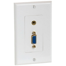 Cmple 998-N VGA 15pin female / 3.5mm Audio jack Wall Plate (Gold Plated)