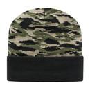 Cap America RKTC12 Tiger Stripe Camo Knit Cap With Cuff