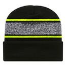 Cap America RKV12 Variegated Striped Knit Cap With Cuff