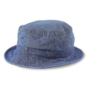 Cobra Caps BKT-D Bucket Denim Washed Cap, Indigo/Indigo