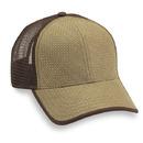 Cobra Caps HDP-M Hi-Density Paper Straw/Mesh Bk, Tan/Brown