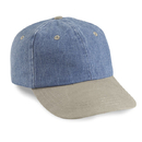 Cobra Caps PDW-R 6 Pnl Denim/Washed Visor, Sky/Sand
