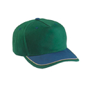 Cobra Caps TBL 5 Pnl Brush Double Layer Visor, Dk.Grn/Navy/Khaki