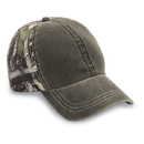 Cobra Caps TT-WEA 6 Pnl Weathered-Washed Cap w/ True Timber Camo Bk