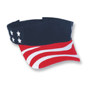 Cobra Caps USA-V USA Imprinted Visor, Red/White/Navy