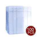 GOGO Heavy Duty ID Card Badge Holder Clear Vinyl Waterproof Type Resealable Zip