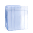 12 SETS Wholesale GOGO Set of 50 Clear Plastic Name Tag Badge Id Card Holders Large Heavy Duty Waterproof 3