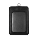 GOGO Vertical Horizontal 2-Sided PU Leather ID Card Badge Holder with ID Window