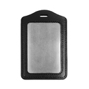 GOGO Badge Holder, Vertical Horizontal PU Leather High-capacity with Slot & Chain Holes