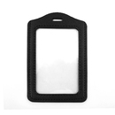 GOGO Badge Holder with Slot, Vertical 2-Sided Clear PU Leather Standard Size