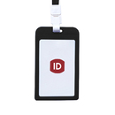 GOGO Vertical Candy Color Plastic ID Badge Holder Card Holder with Neck Lanyard