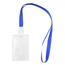 GOGO Clear and Transparent Crystal Acrylic Card Holder Badge Holder with Lanyard for Bussiness Card