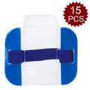 GOGO 15PCS Clear Armband ID Badge Holders Top Loading with Heavy Duty Adjustable Elastic Band