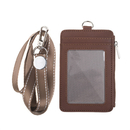 GOGO Heavy Duty Badge Holder with Necklace Vertical, PU Leather Pouch with Durable Lanyard for Offices School ID