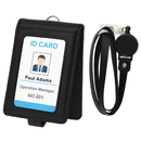GOGO Badge Holder Reel Clip Retractable with Lanyard, Folding ID Card Necklace Holder, 1 ID Window and 4 Card Slots
