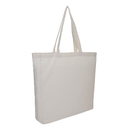 Muka Canvas Tote Bags with Full Gusset 100% Cotton Bulk 15 x 16 x 3 1/2 Inches