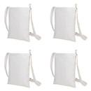 Muka 4 Pack Mini Crossbody Shoulder Bag Purses, 7 x 9 Inches Canvas Handbags for Kids Adult