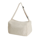 Muka Crossbody Zip Tote, Canvas Shoulder Travel Sports Bag with Bottom Gusset, 15 x 9-5/8 x 9 Inches