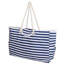 Muka Large Shoulder Beach Tote Bag, Heavy Duty Oxford Cloth Handbag, 21-1/4 x 14-1/2 x 5-1/2 Inch
