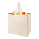Muka Grocery Bag with 6 Bottle Pockets, 100% Cotton Shopping Totes 15 x 15 x 10 Inches