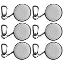 Muka 6 Pack Circle Ear Bud Pouches with Carabiner Clip Mini Round Earphone Carrying Case