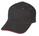 Cameo Sports CS-117 Brushed Cotton Cap w/ Sandwich Bill