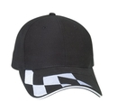 Cameo Sports CS-130 Brushed Cotton with Embroidered Checker Logo, sandwich visor