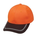 Cameo Sports CS-188 6 Panel Poly Twill Safety Cap