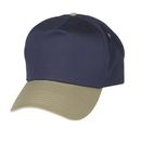 Cameo Sports CS-68C Cotton Twill Two-Tone Cap, Half Moon Stay Buckram