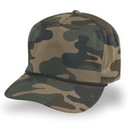 Cameo Sports Custom 5 Panel Green Camo Twill, Plastic Snap Back, Embroidery Imprint