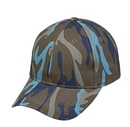 Cameo Sports CS-83A 6 Panel Blue Camo Twill Cap